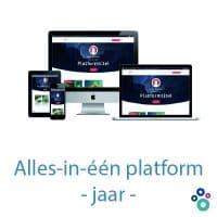 Hét alles-in-één platform - per jaar
