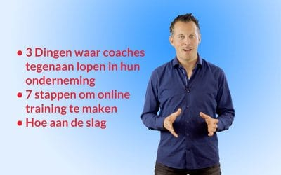 Zelf voor de camera in je online cursus video's