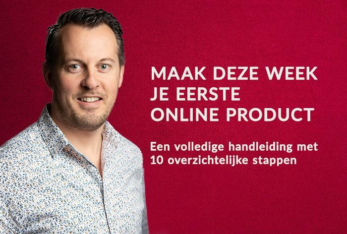Je eerste online product