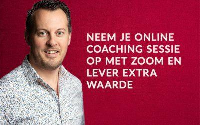 Neem je online coaching sessie op met Zoom en lever extra waarde