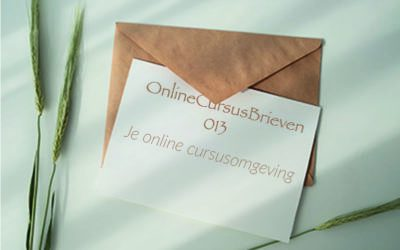 OnlineCursusBrief 013 Je online cursusomgeving