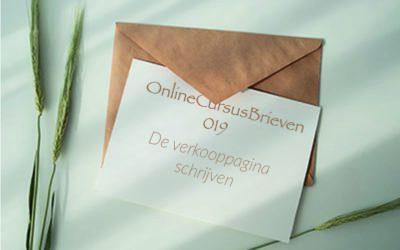 OnlineCursusBrief 19 De verkooppagina schrijven